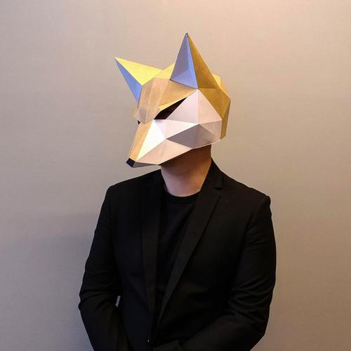 匠紙|極簡狐狸(面具mask)