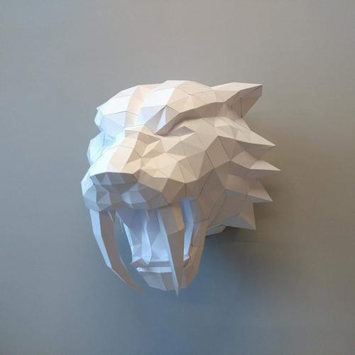 匠紙|劍齒虎(壁飾wall decoration)