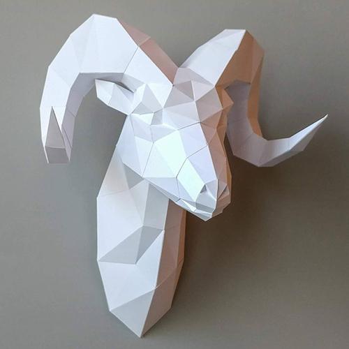 匠紙|羊頭(壁飾wall decoration)