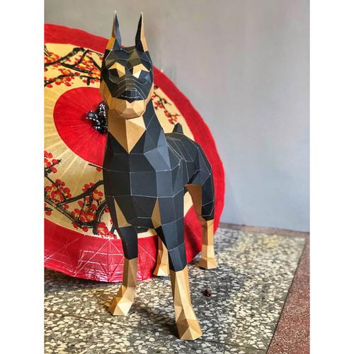 匠紙|杜賓犬L(擺飾paper sculpture)