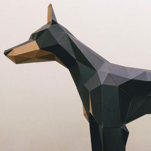 匠紙|杜賓犬M(擺飾paper sculpture)