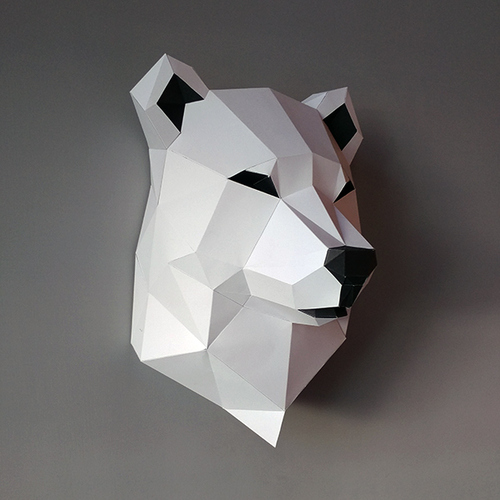 匠紙|北極熊(壁飾wall decoration)