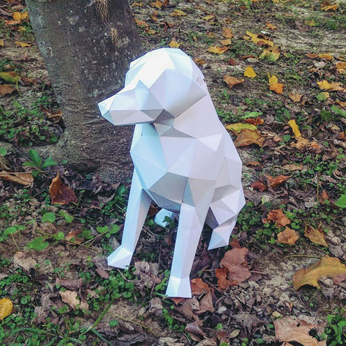 匠紙|拉布拉多M(擺飾paper sculpture)
