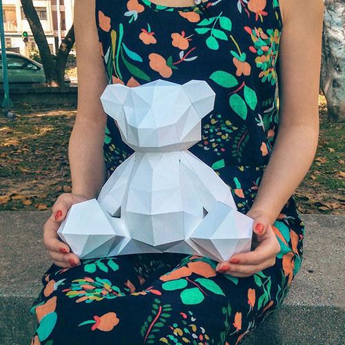 匠紙|泰迪熊(擺飾paper sculpture)
