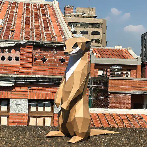 匠紙|狐獴M(擺飾paper sculpture)