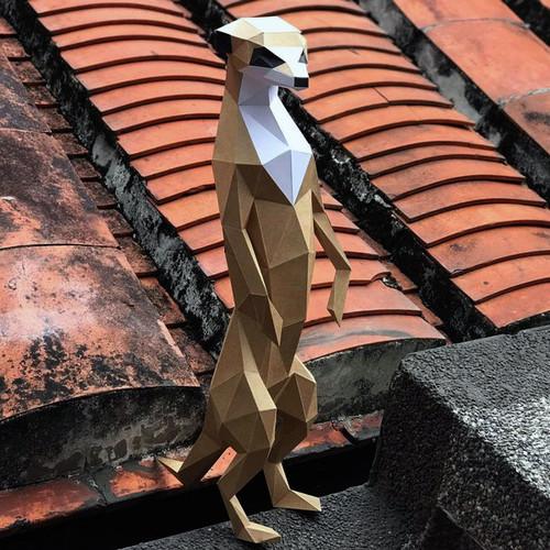 匠紙|狐獴L(擺飾paper sculpture)