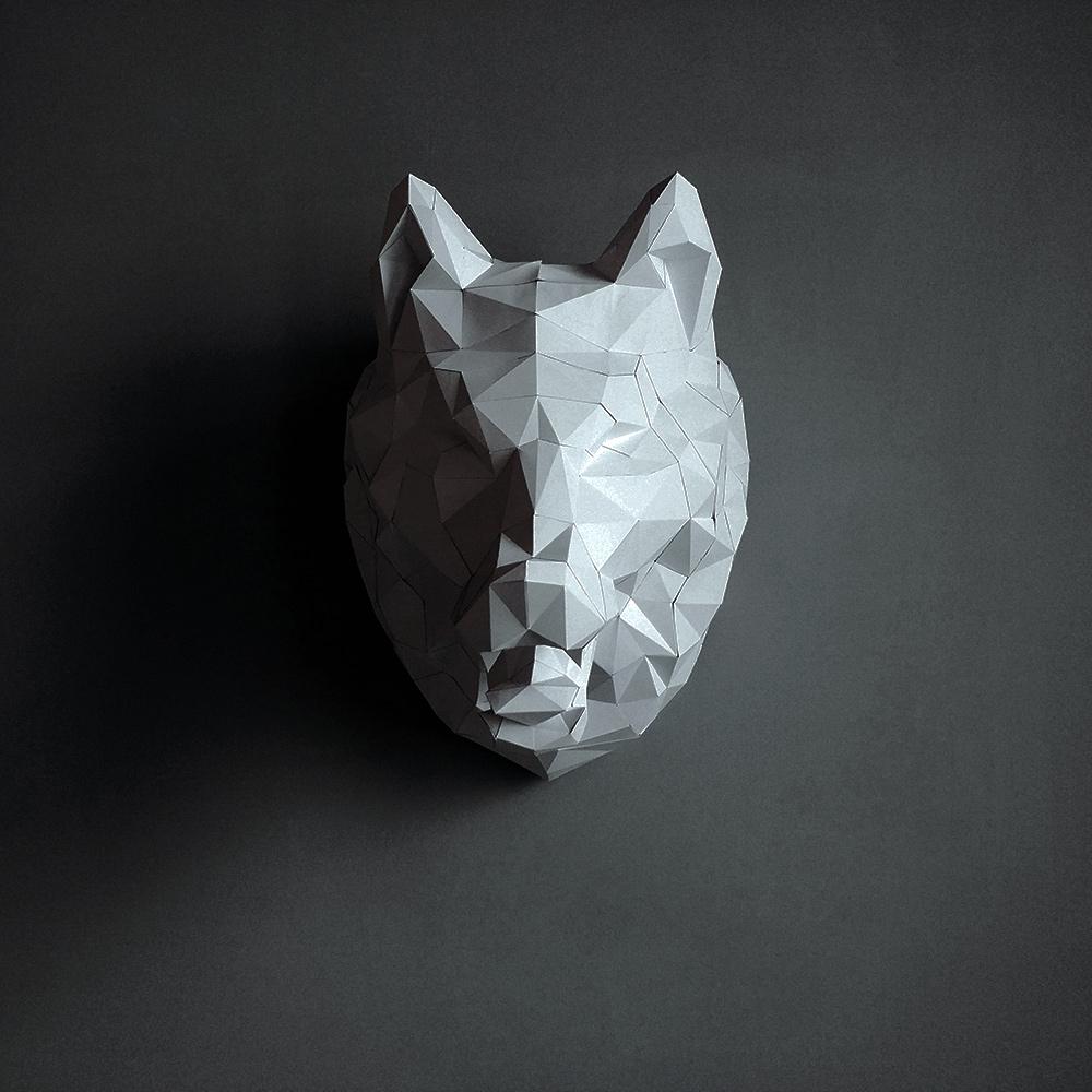 匠紙|狼頭(壁飾wall decoration)