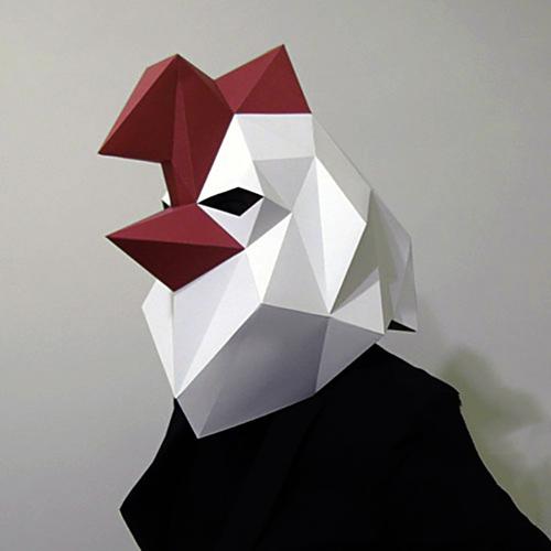 匠紙|公雞(面具mask)