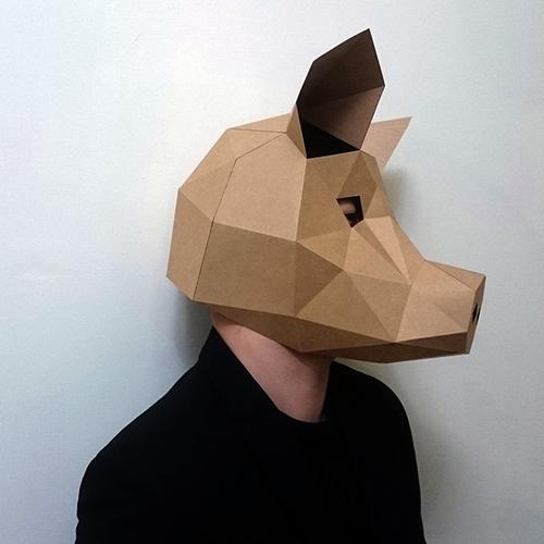 匠紙|豬(面具mask)