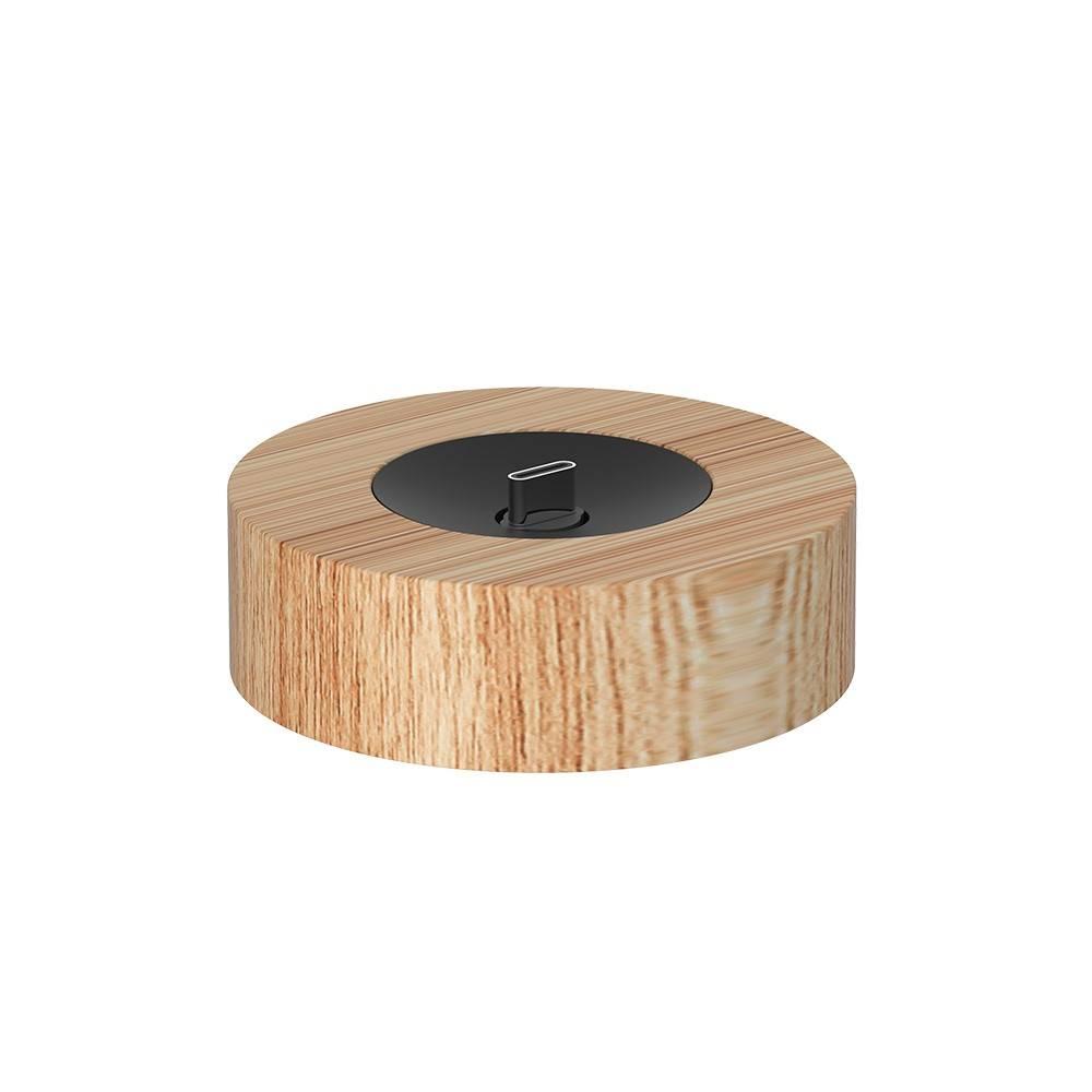 YFLife 圓方生活|AIRmini小鯨瓶 實木磁吸充電座