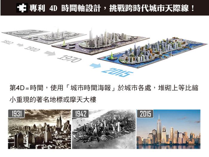 (複製)4D Cityscape|4D 立體城市拼圖 - 華盛頓 1100片 +