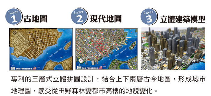 (複製)4D Cityscape|4D 立體城市拼圖 - 紐約 900+