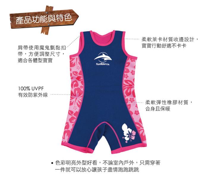 (複製)康飛登 Konfidence - Warma wetsuits 寶寶防寒衣,水藍棕櫚