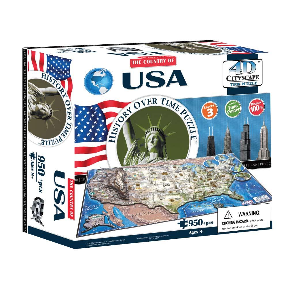 4D Cityscape|4D 立體城市拼圖 - 美國 950+