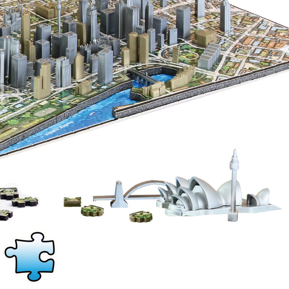 4D Cityscape 4D 立體城市拼圖 - 雪梨 1000片 +