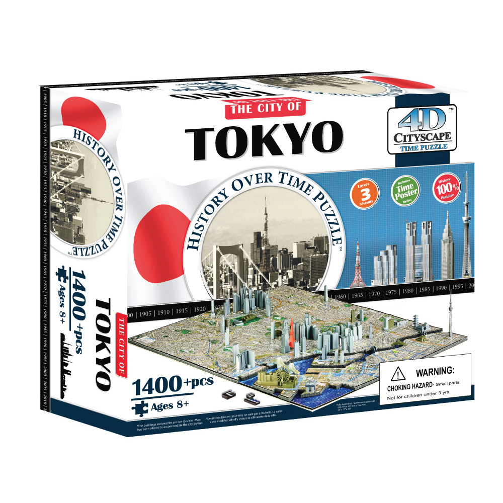 4D Cityscape 4D 立體城市拼圖 - 東京 1400片 +