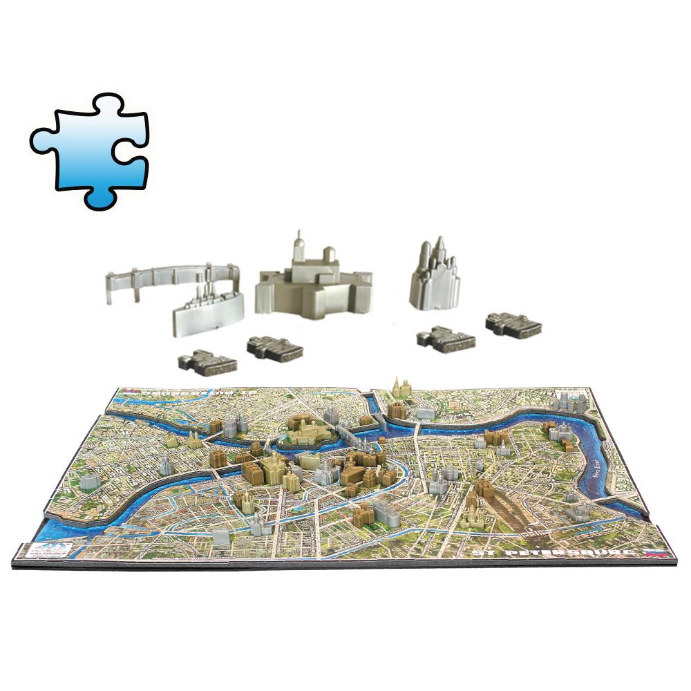 4D Cityscape 4D 立體城市拼圖 - 聖彼得堡 1245片 +