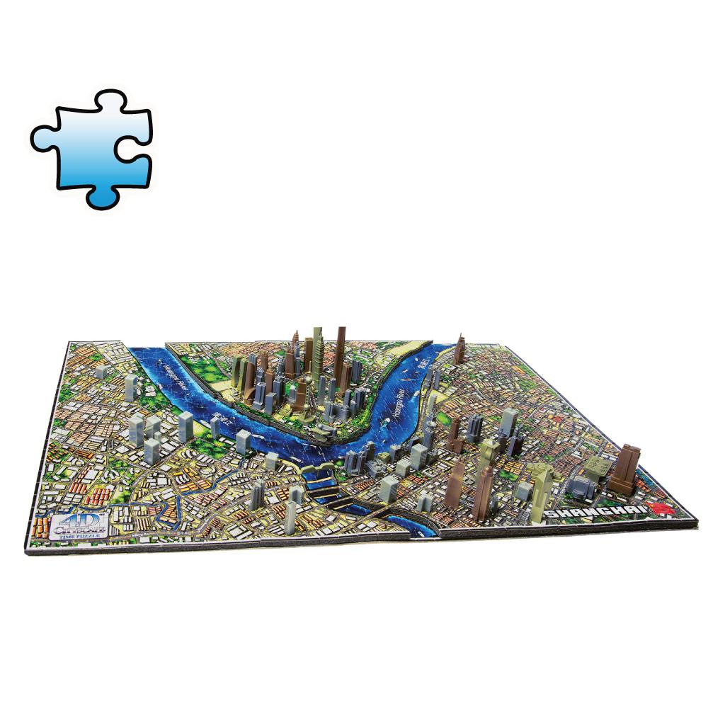 4D Cityscape|4D 立體城市拼圖 - 上海 1100片 +