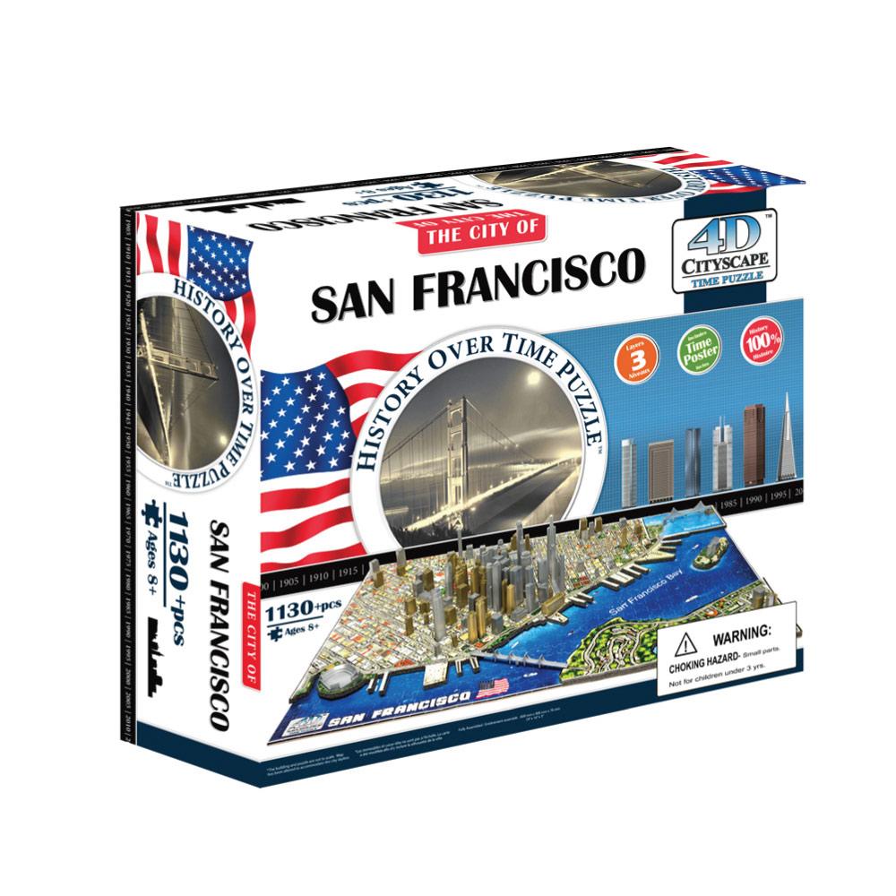 4D Cityscape|4D 立體城市拼圖 - 舊金山 1100片 +