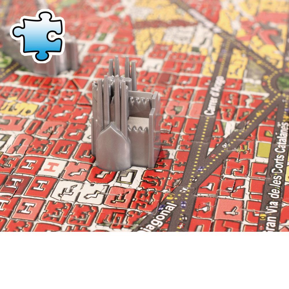 4D Cityscape|4D 立體城市拼圖 - 巴塞隆納 1100 片 +