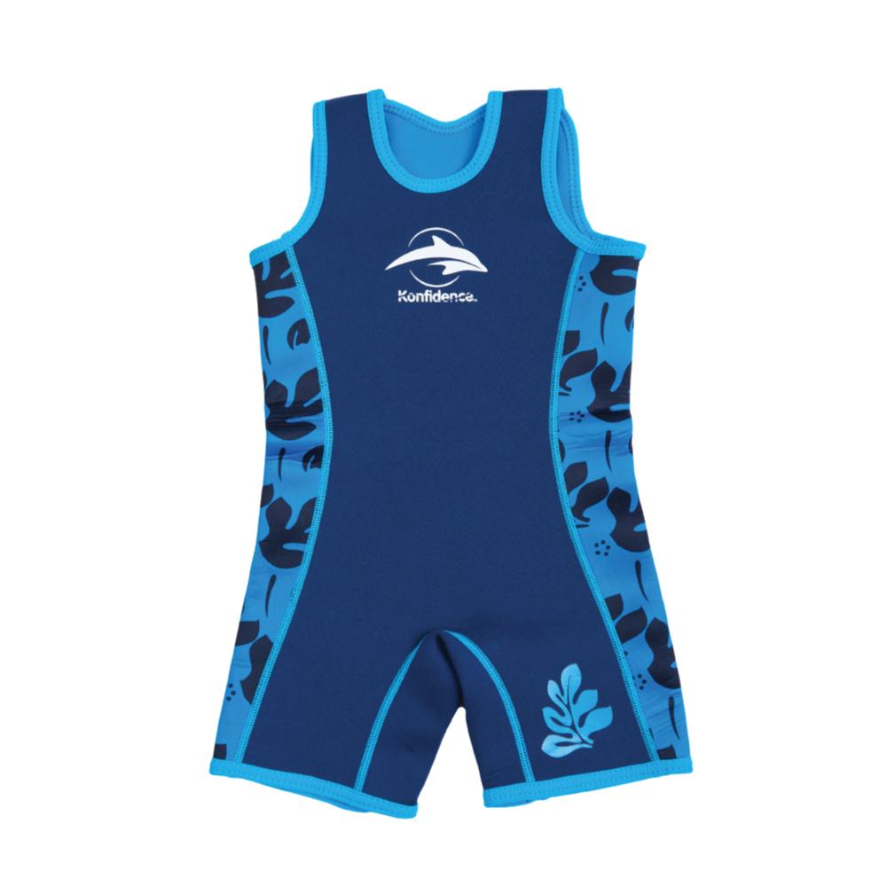 康飛登 Konfidence|Warma wetsuits 寶寶防寒衣 水藍棕櫚