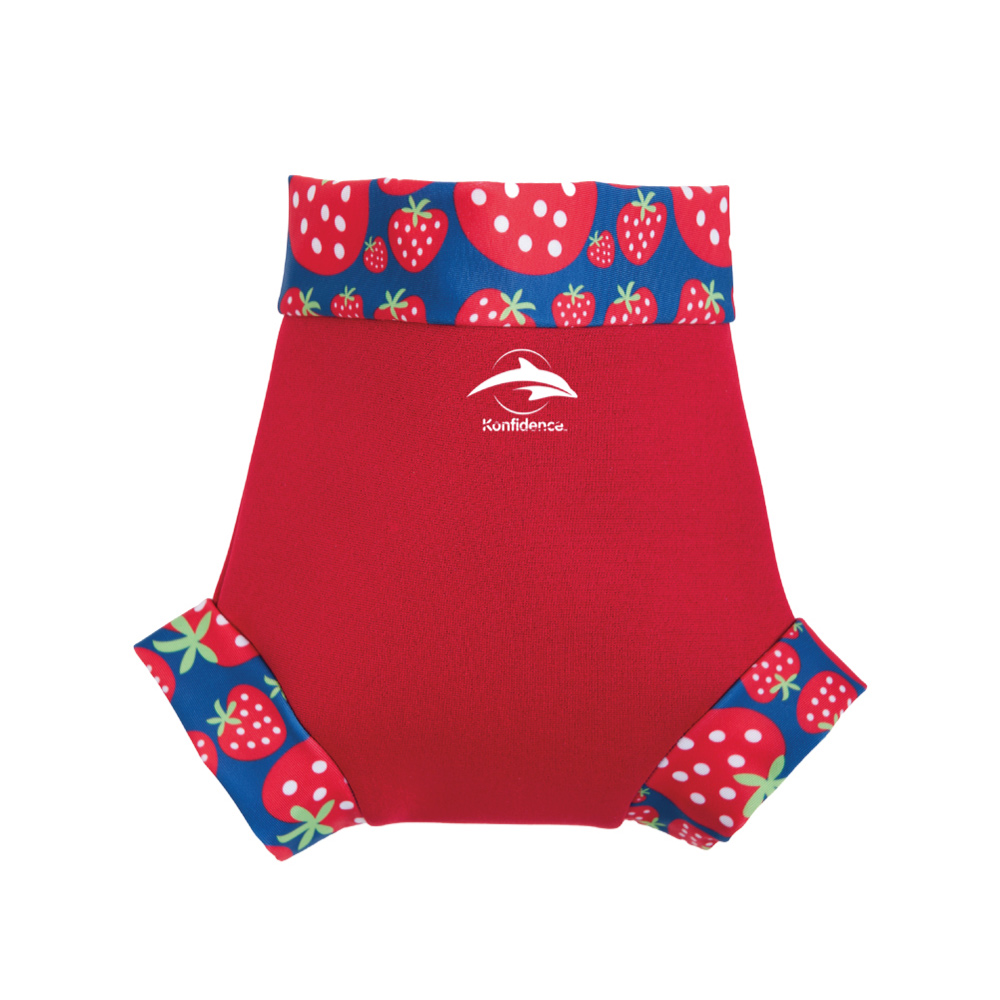 康飛登 Konfidence|嬰幼兒游泳專用外層加強防漏尿布褲 紅/草莓