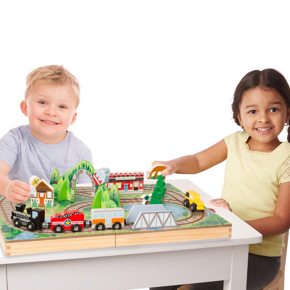 美國瑪莉莎 Melissa & Doug | 交通工具 - 手提收納鐵路軌道組