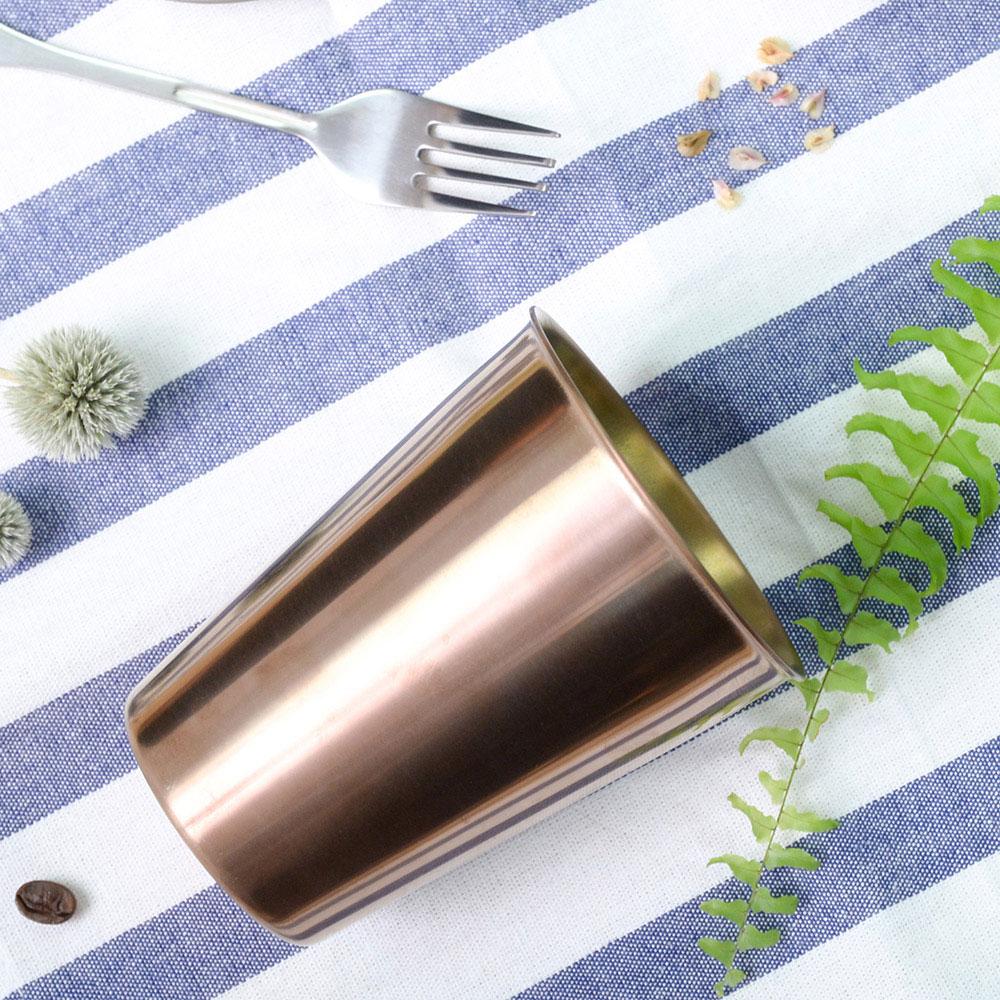 TiANN鈦安|純鈦雙層(可可)咖啡杯 330ml 贈杯蓋