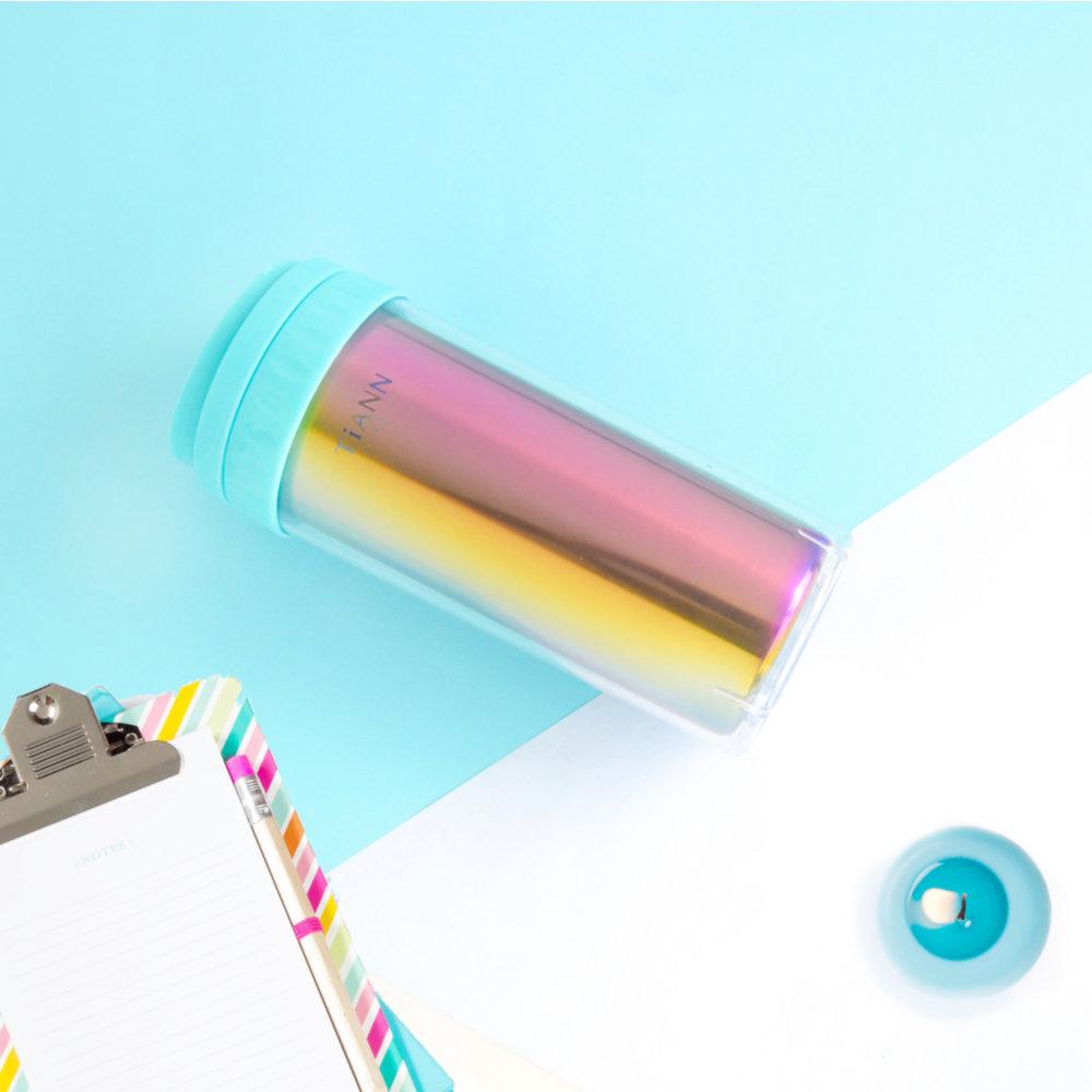 TiANN鈦安|純鈦隨行杯 550ml (送水壺&杯蓋3色可選)含質感提袋