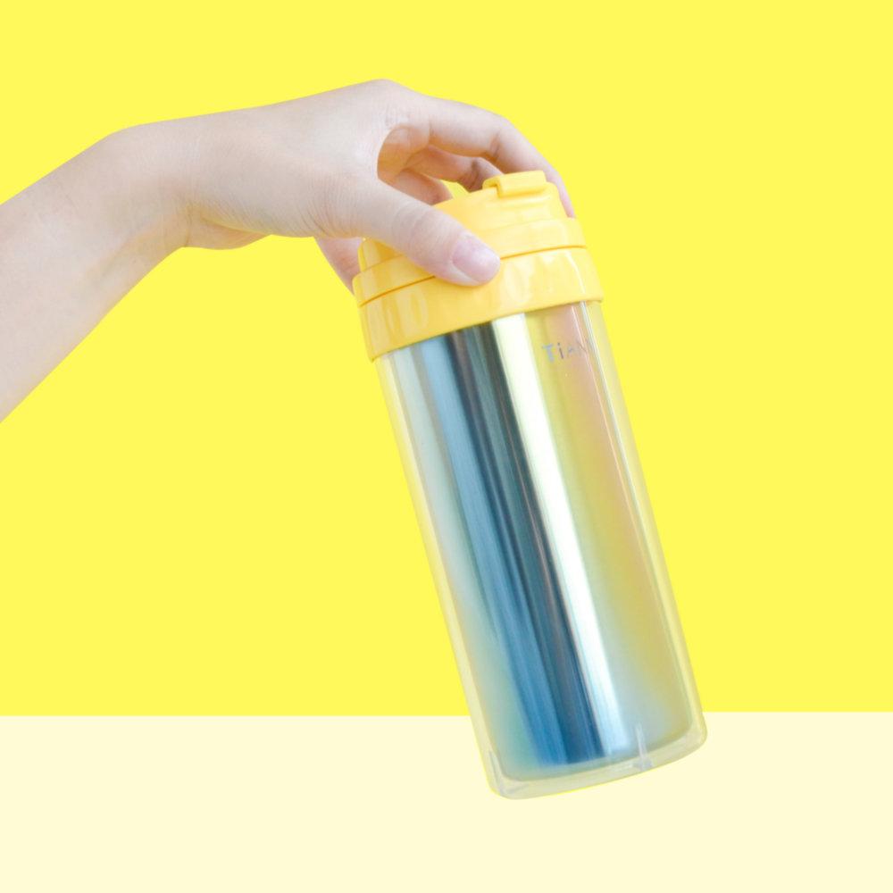 TiANN鈦安|純鈦隨行杯 550ml (送水壺&杯蓋4色可選)