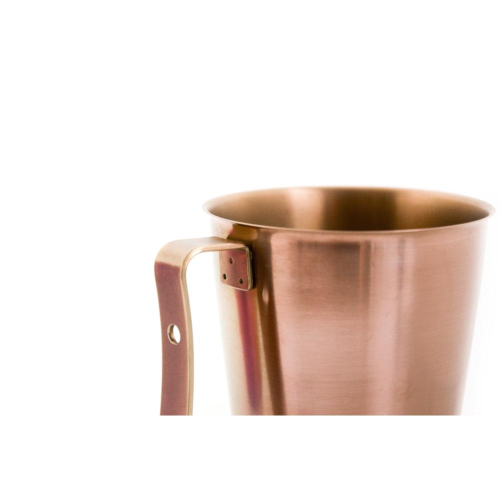 TiANN鈦安|純鈦 啤酒杯(可可) 450ml 含杯蓋