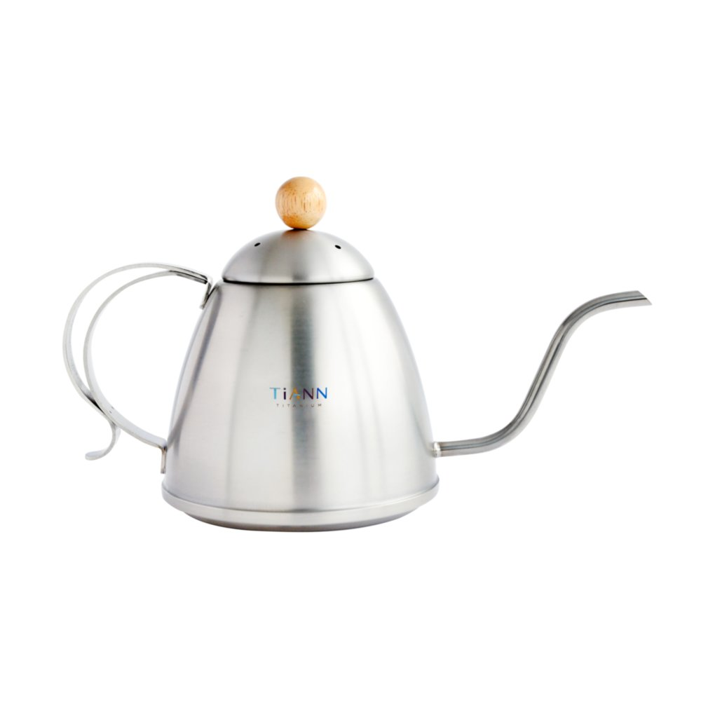 TiANN鈦安|純鈦手沖咖啡壺/茶壺(1000ml)