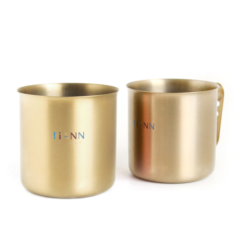 TiANN鈦安|太陽純鈦輕巧杯350ml-兩入組