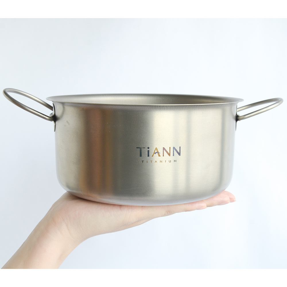 TiANN鈦安 個性小圓鍋/氣炸鍋內鍋/電鍋內鍋1.8L(可折耳)