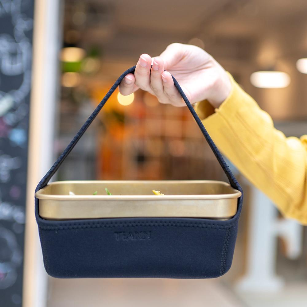 TiANN鈦安|純鈦多功能 小方鍋/料理保鮮盒1.8L-橘色