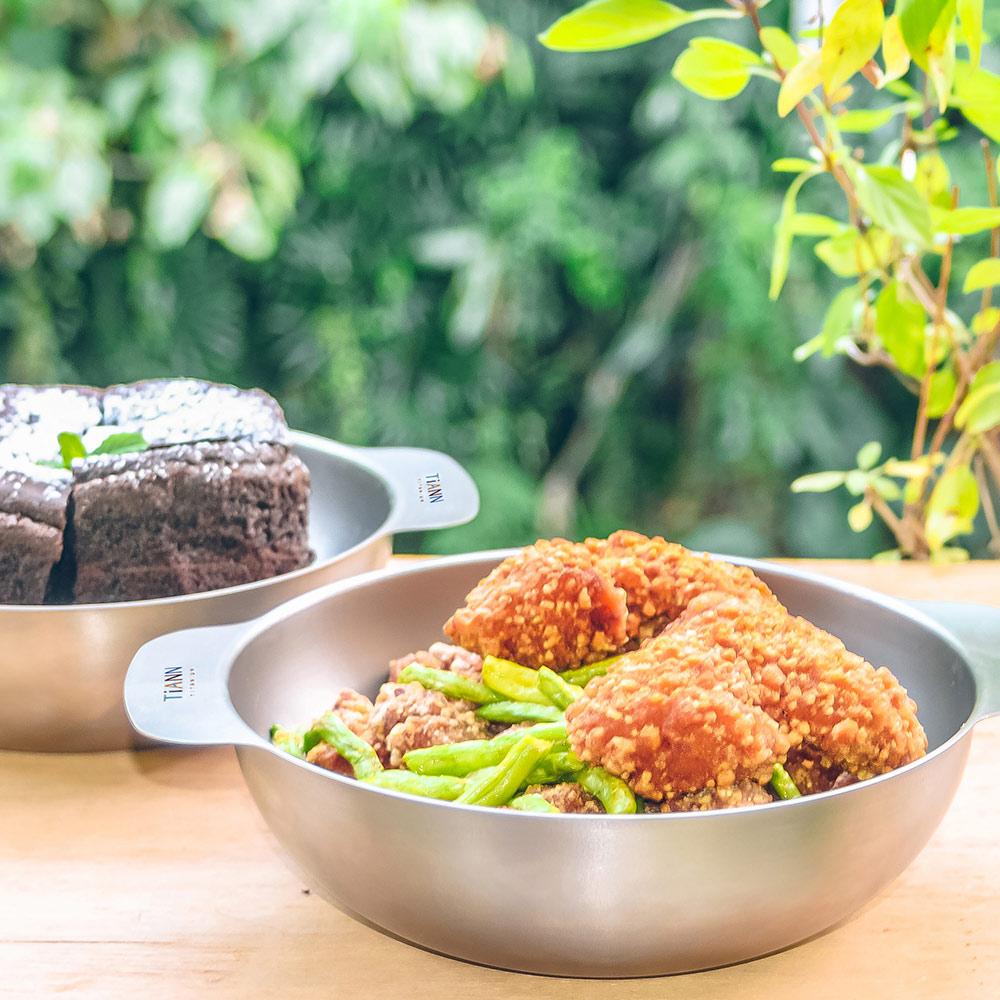 TiANN鈦安 純鈦多功能 料理鍋/沙拉碗