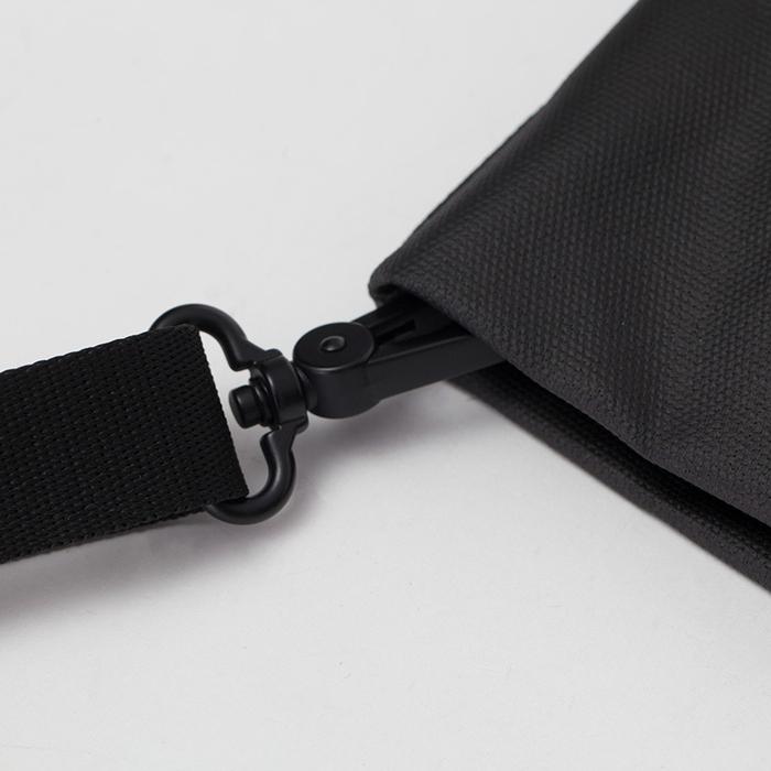 COTE&CIEL|AMU COATED CANVAS BLACK 覆膜帆布側背拖特兩用包 - No.28761