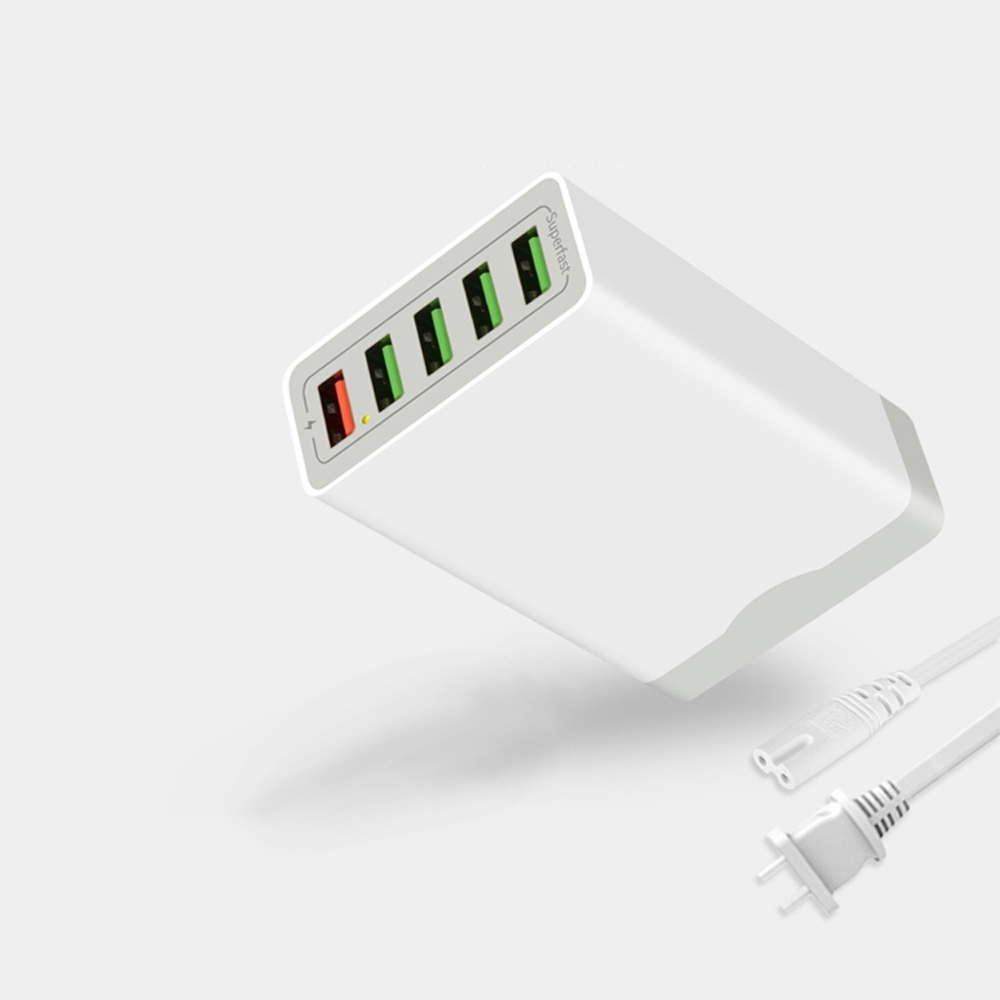 宜卡逽|QC3.0 五孔快速充電分享器