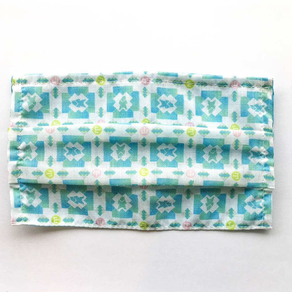 捲毛力卡QUEMOLICA| 花磚布口罩套- 福爾摩沙