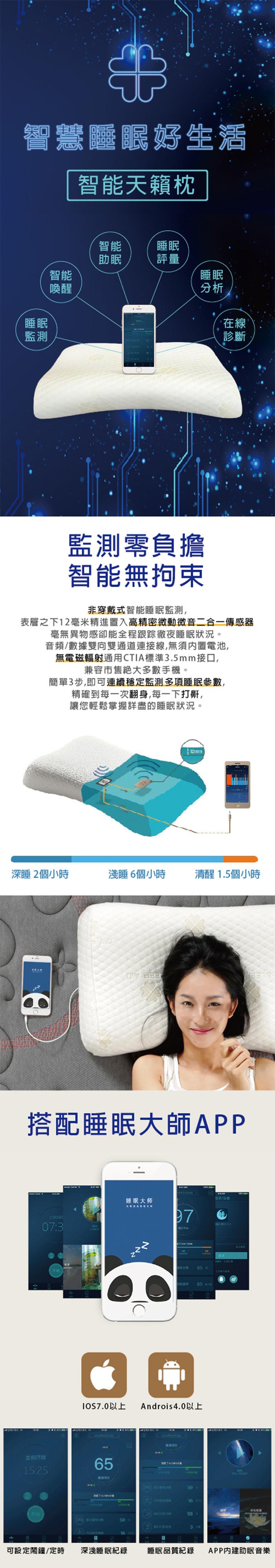 (複製)台灣施力普 智能科技天籟枕