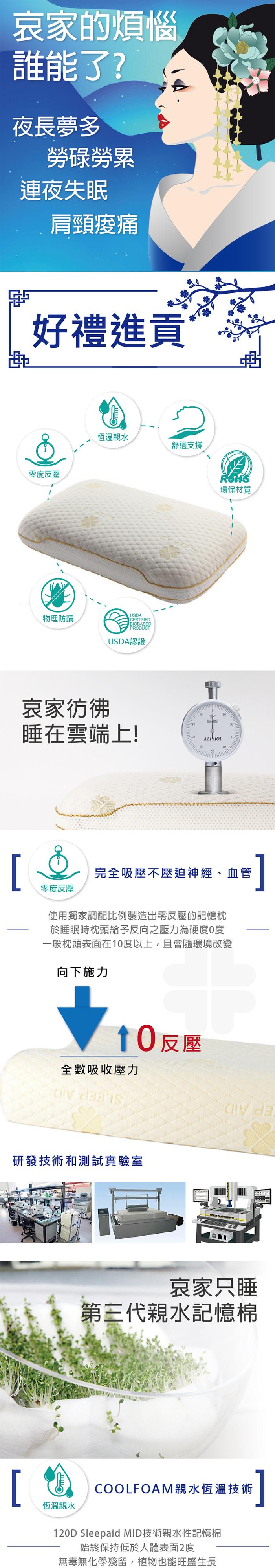 台灣施力普 高密度記憶天王枕-經典款