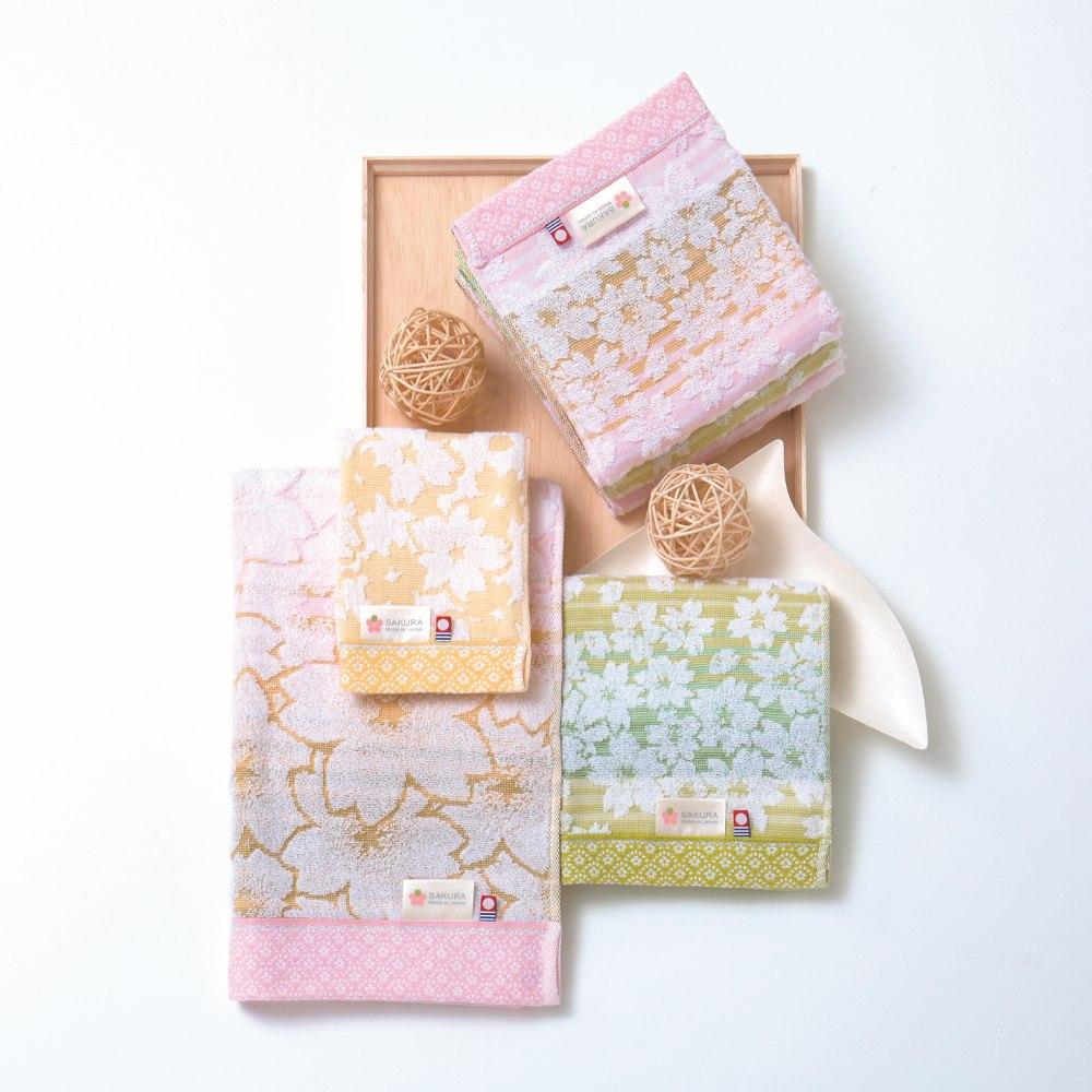 日本Prairie Dog 今治匠彩白櫻精緻禮盒組(方巾x1+毛巾x1)