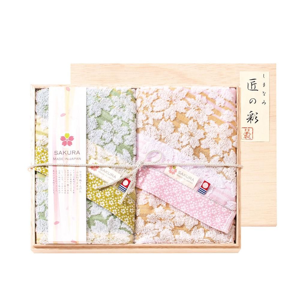 日本Prairie Dog|今治匠彩白櫻精緻禮盒組(毛巾X2)