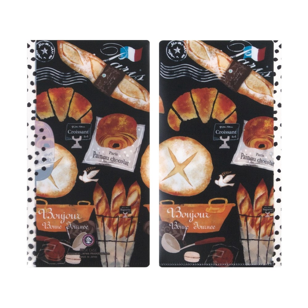 日本Prairie Dog|四層構造口罩5入組(附收納袋)-麵包店