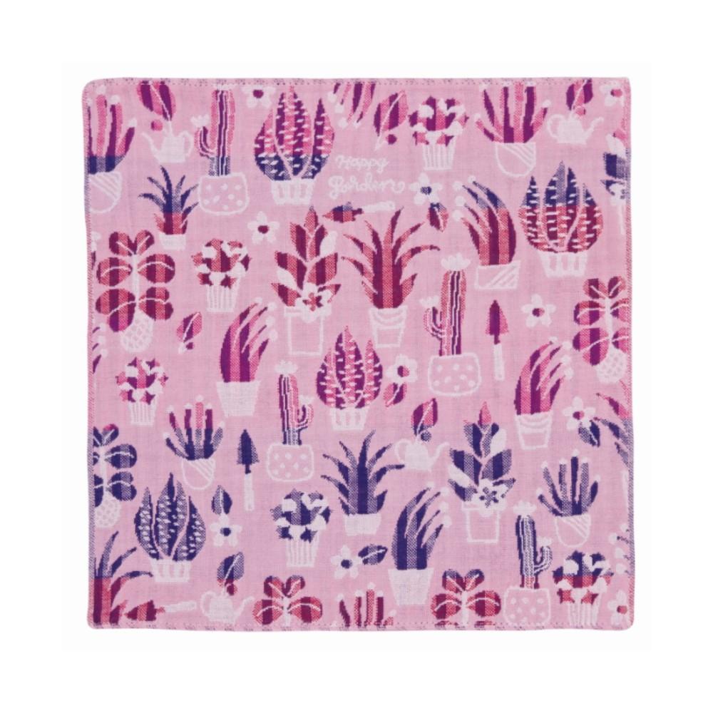 日本Prairie Dog|今治三層紗方巾-粉色花園