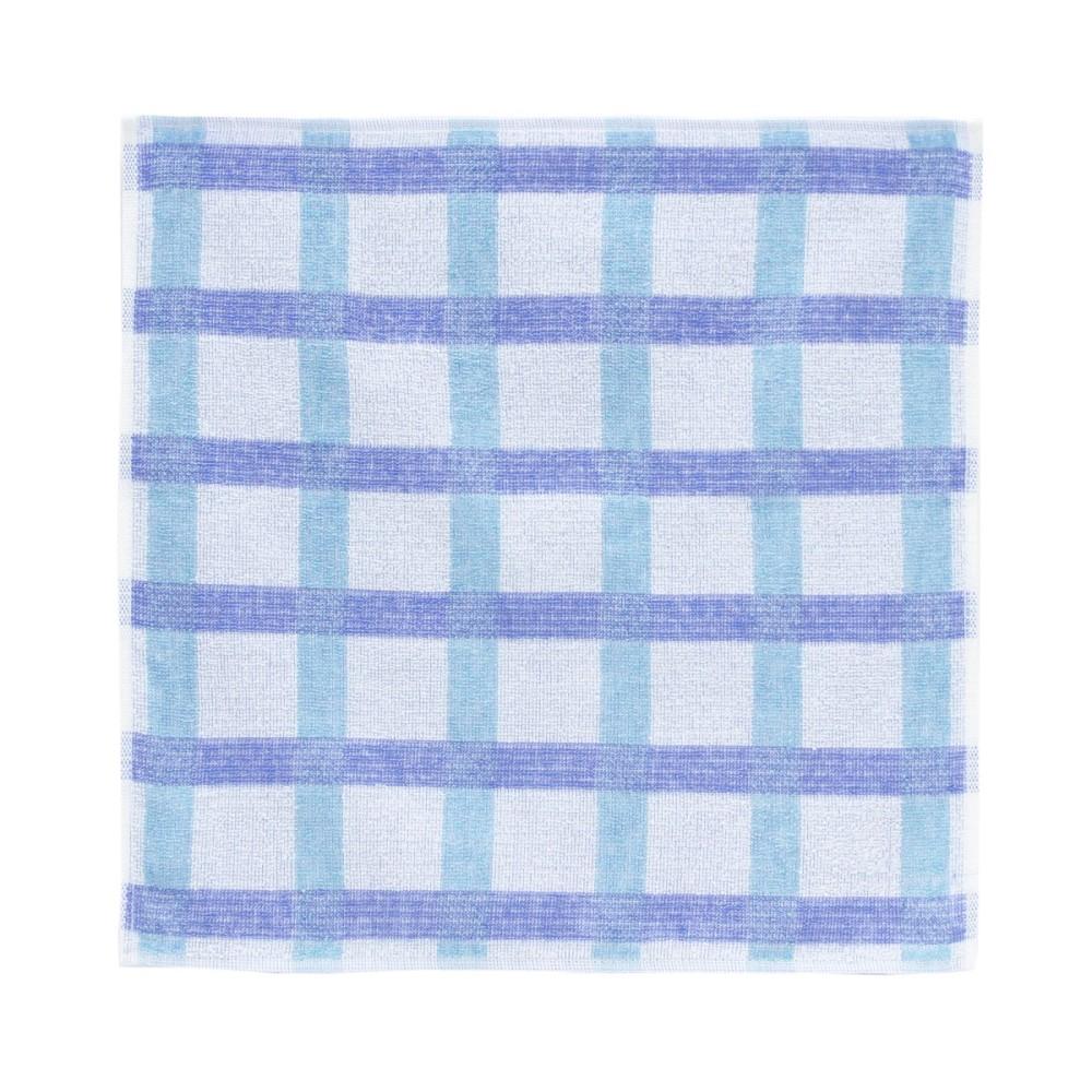 日本Prairie Dog|今治銀線製除臭方巾(方格)-藍/綠