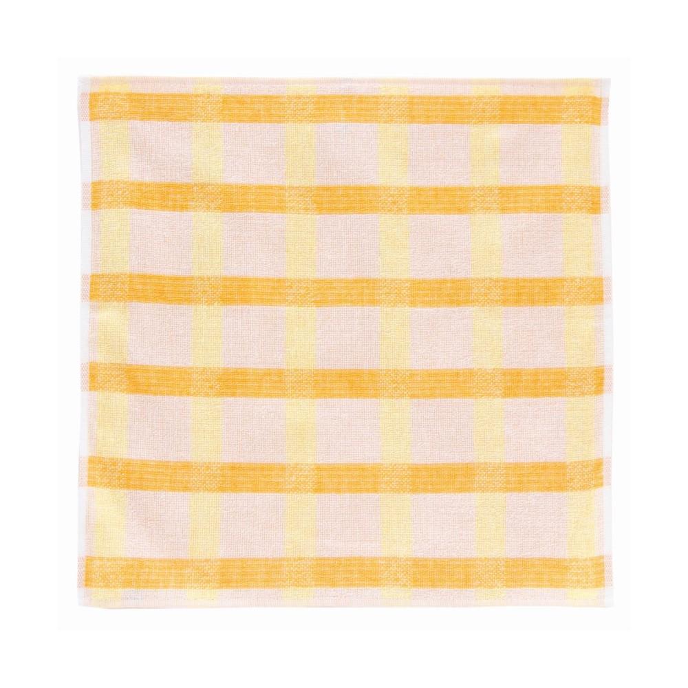 日本Prairie Dog|今治銀線製除臭方巾(方格)-黃/橘
