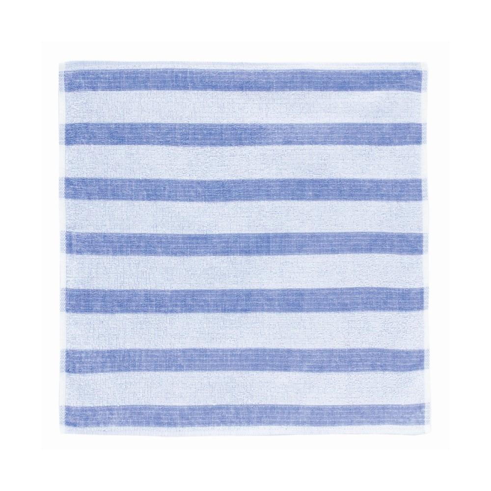 日本Prairie Dog|今治銀線製除臭方巾(橫紋)-藍