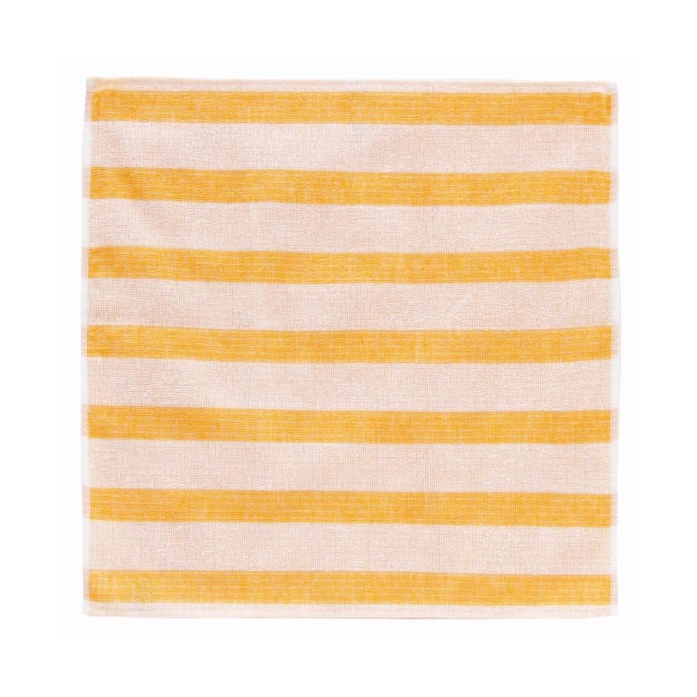 日本Prairie Dog 今治銀線製除臭方巾(橫紋)-黃