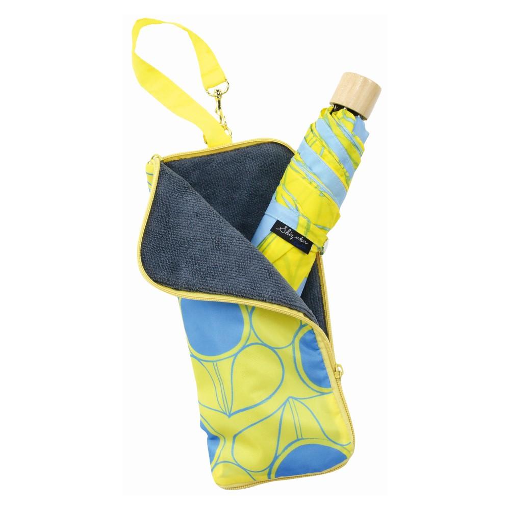 日本Prairie Dog|可調式掛勾絨毛超吸水摺疊傘套-檸檬黃